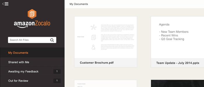 出てきた!新しいファイル共有サービス「Amazon Zocalo」