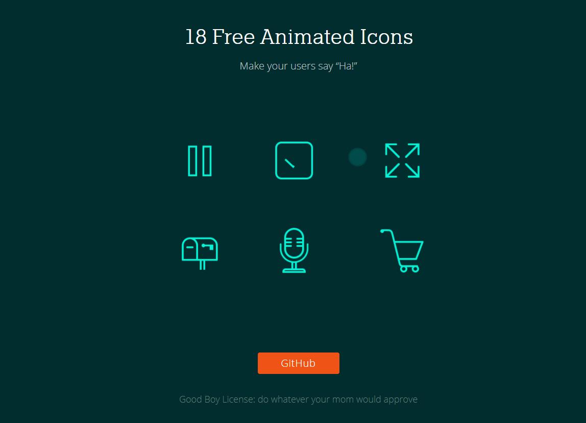アイコンをアニメーションさせる「Animated Icons」