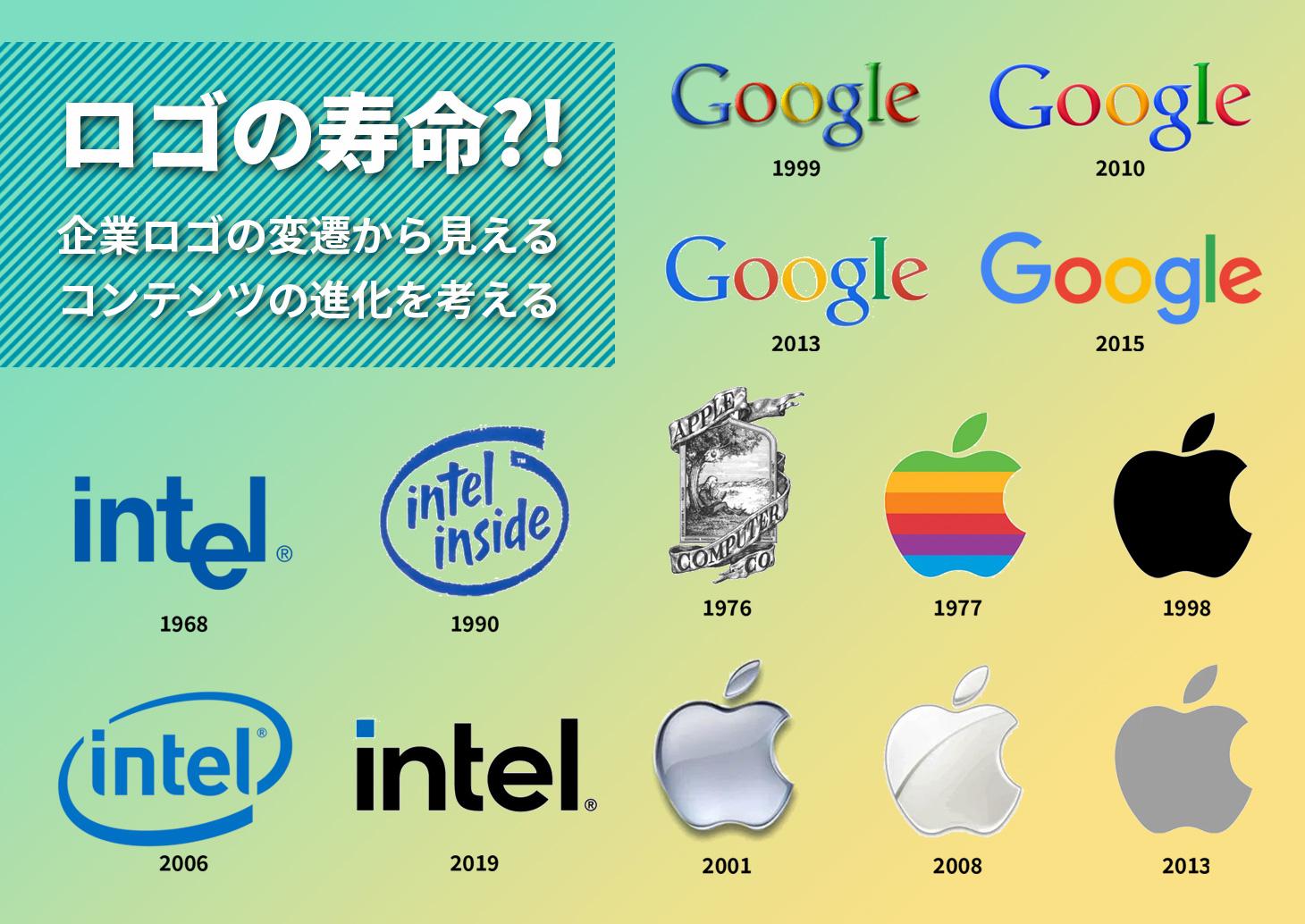 ロゴも寿命がある?企業ロゴの変遷から見えるコンテンツの進化